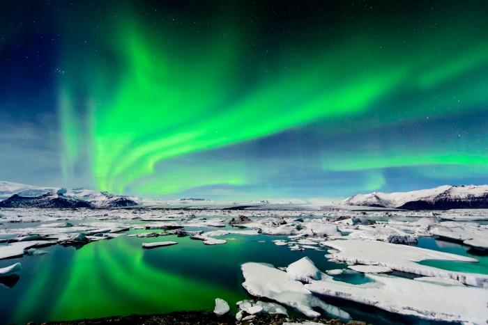 Dramatic Auroras In Iceland